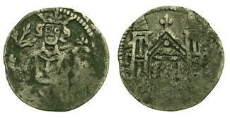 Pfennig 1310-1330 Werden und Helmstedt Wilhelm II. von Hardenberg 1310-1330. Von größter Seltenheit. Prägeschwäche, sehr schön
