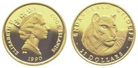 25 Dollars Gold 1990 Cook Islands Elizabeth II. seit 1952. Polierte Pla... 69,00 EUR  +  10,00 EUR shipping