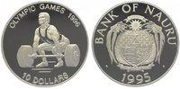 10 Dollars 1995 Nauru  Polierte Platte