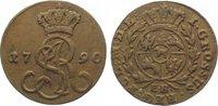 Cu Groschen 1790 Polen Stanislaus August 1...