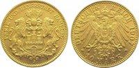 10 Mark  Gold 1907 J Hamburg  Fast vorzüglich