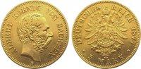 5 Mark  Gold 1877 E Sachsen Albert 1873-19...