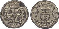 3 Pfennig 1728 Sachsen-Albertinische Linie...
