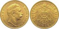 20 Mark Gold 1910  J Preußen Wilhelm II. 1...