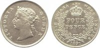 Four Pence 1891 Guyana-British Guyana & We...