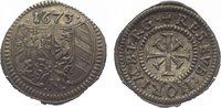 Kreuzer 1673 Nürnberg, Stadt  Vorzüglich
