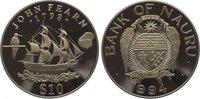 10 Dollars 1994 Nauru  Polierte Platte