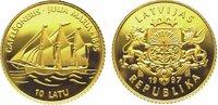 10 Latu Gold 1997 Baltikum-Lettland  Winz....