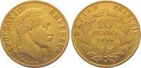 10 Francs Gold 1866  BB Frankreich Napoleo...