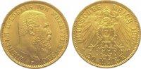 20 Mark Gold 1905  F Württemberg Wilhelm I...