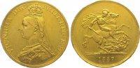 Five Pounds Gold 1887 Großbritannien Victo...