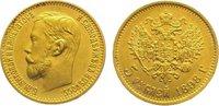5 Rubel Gold 1898 Russland Nikolaus II. 18...