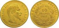 10 Francs Gold 1857  A Frankreich Napoleon...