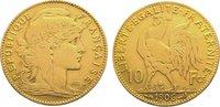 10 Francs Gold 1906  A Frankreich Dritte R...