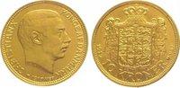 10 Kronen Gold 1917 Dänemark Christian X. ...