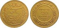 20 Francs Gold 1903 A (AH  Tunesien Franzö...