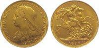 Sovereign Gold 1896 Großbritannien Victori...