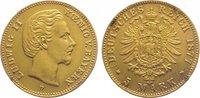 5 Mark Gold 1877  D Bayern Ludwig II. 1864...