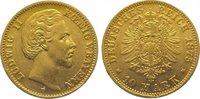 10 Mark Gold 1875  D Bayern Ludwig II. 186...