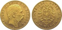 10 Mark Gold 1879  E Sachsen Albert 1873-1...