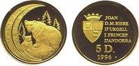5 Diners Gold 1996 Andorra  Polierte Platte