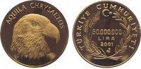 50 Millionen Lira Gold 2001 Türkei Republi...