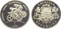Lats 1999 Baltikum-Lettland  Polierte Platte
