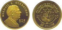 25 Dollars Gold 2000 Liberia Republik seit...