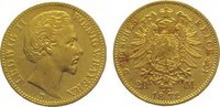 20 Mark Gold 1872  D Bayern Ludwig II. 186...