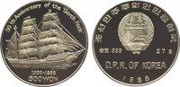 500 Won 1988 Korea-Nord  Polierte Platte