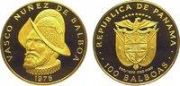 100 Balboas Gold 1975 Panama  Originaletui...