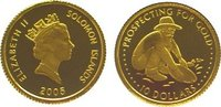 10 Dollars Gold 2005 Salomonen / Solomon Islands  Polierte Platte  64,00 EUR  plus 10,00 EUR verzending