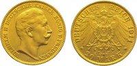 20 Mark Gold 1911  A Preußen Wilhelm II. 1...