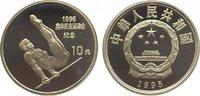 10 Yuan 1995 China Republik. Polierte Platte