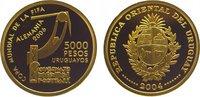 5000 Neue Pesos Gold 2004 Uruguay Republik...