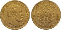 20 Mark Gold 1886  A Preußen Wilhelm I. 18...