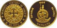 50 Vatu Gold 1998 Vanuatu  Polierte Platte