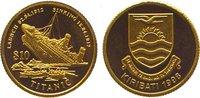10 Dollars Gold 1998 Kiribati  Polierte Pl...