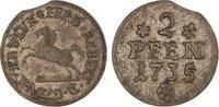 2 Pfennig 1735 Braunschweig-Wolfenbüttel F...