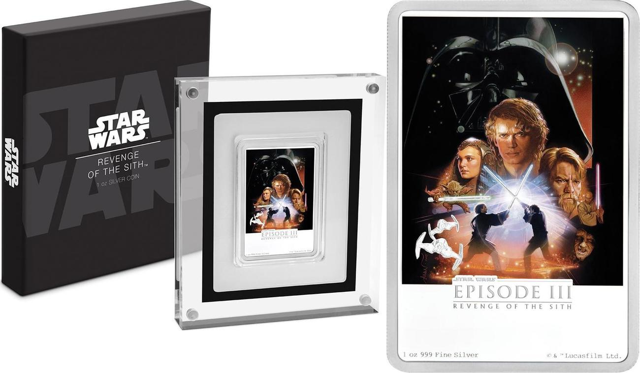 2 Dollar 2018 Niue Niue Star Wars Revenge Of The Sith Posters Color 1 Oz With Box Certificate Proof Ma Shops
