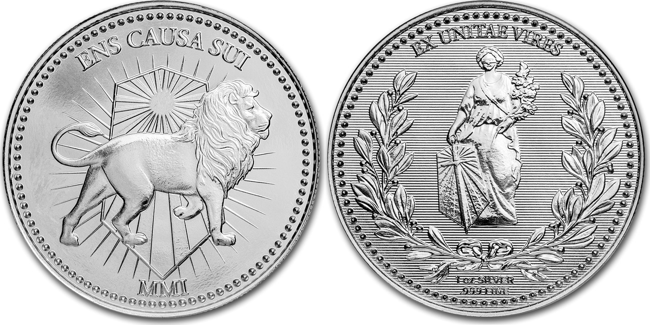 Details about  /2019 JOHN WICK CONTINENTAL LION 1 OZ ENS CAUSA SUI .999 SILVER ROUND COIN