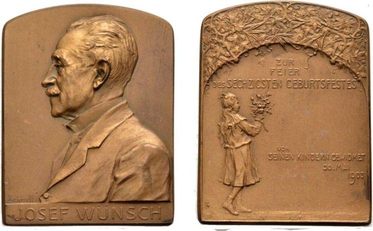 Bronzeplakette 1903 J Wünsch Wien Von A Scharff Ef Ma Shops