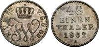 1/48 Taler 1862 MECKLENBURG-STRELITZ FRIED...