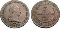 3 Kreuzer 1812 S ÖSTERREICH FRANZ I. Vorzü...