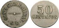 50 Centavos um 1900 COSTA RICA Eisenbahnma...