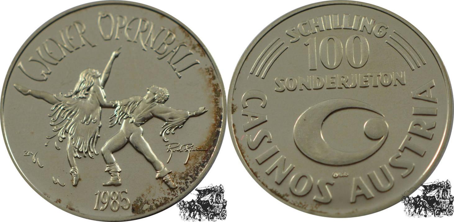 100 Schilling 1985 österreich 100 Schilling 1985 Wiener Opernball