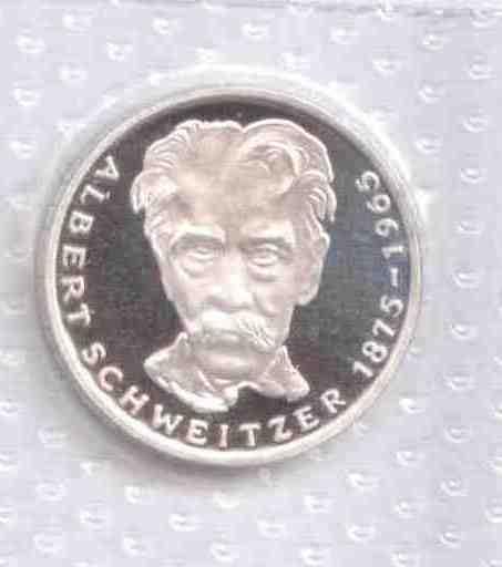 5 Mark 1975 G 5 Mark 1975 G Albert Schweitzer Proof Ma Shops