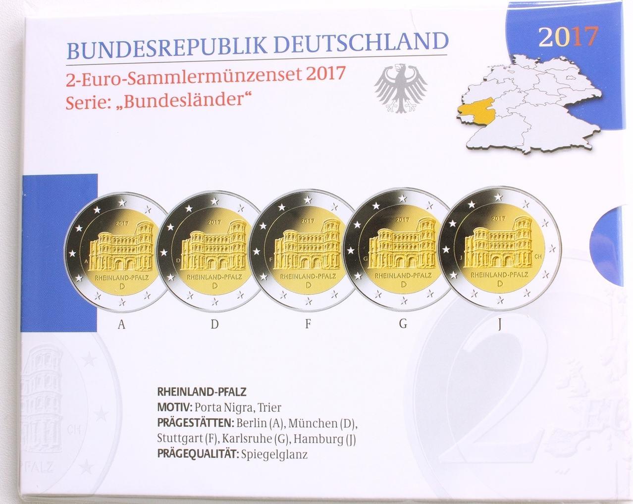 2 Euro 2017 Deutschland Brd Gedenkmünzen Set Adfgj Quot