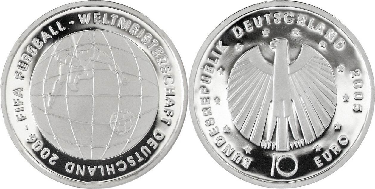 10 Euro 2005 D Deutschland Brd Germany Xviii Fußball