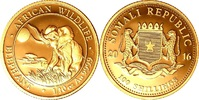 100 Shillings 2016 Somalia 1/10 oz Elephant